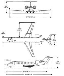 CRJ200 Aircraft Dimensions